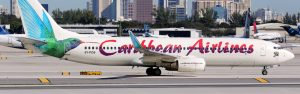 Caribbean Airlines panorama 300x94 - Caribbean Airlines Boeing 737-800 Airplane Fort Lauderdale Airport